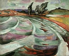 Edvard Munch, The Wave, 1921 Oil on canvas, 110 cm x 120 cm The Munch Museum