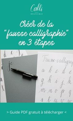 "Discover the ""false calligraphy"". This method helps to create a calligraphy writing illusion with a simple pen. Diy Agenda, Organization Bullet Journal, How To Write Calligraphy, Calligraphy Writing, Bullet Journal Notebook, Custom Book, Planner Pages, Brush Lettering, Bullet Journal Inspiration"