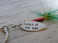 Fishing lure key chain  catch of my life  by WhisperingMetalworks, $16.00