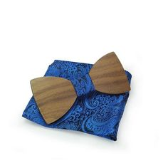 Wooden Bow Tie & Pocket Square Combo