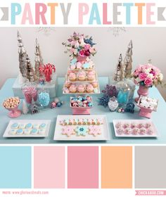 Party palette: Color inspiration for a vintage pastel Christmas party #colorpalette