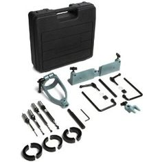 DELTA 17-924  Mortising Attachment with 1/4 Inch, 5/16 Inch, 3/8 Inch, and 1/2 Inch Chisel and Bit Sets (Tools & Home Improvement)  http://www.amazon.com/dp/B0000223B4/?tag=heatipandoth-20  B0000223B4
