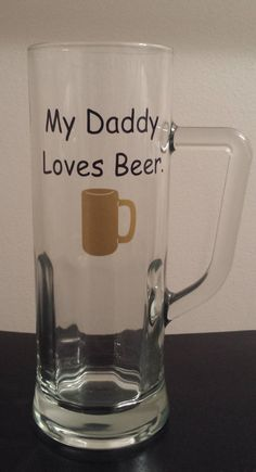 Hey, I found this really awesome Etsy listing at https://www.etsy.com/listing/188650868/large-beer-mug-my-daddy-loves-beer
