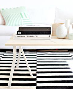 Ikea Vika Lerberg trestles into coffee table