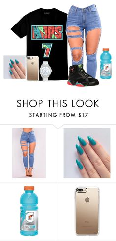 """Marvin The Martian"" by kodeineshay ❤ liked on Polyvore featuring Gatorade, Casetify and Lane Bryant"