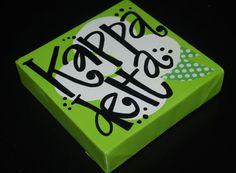 kappa delta painted canvas!