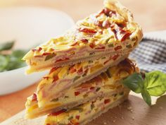 Quiche mit Paprika und Schinken - smarter - Kalorien: 255 Kcal - Zeit: 30 Min. | eatsmarter.de