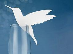 marque places colibri sur verre