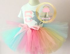 Unicornio cumpleaños traje - 1er cumpleaños unicornio traje - tutu unicornio conjunto - unicornio mono - arco iris tutu