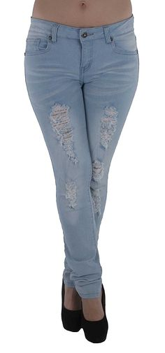 Style M482p Plus Size Colombian Design Butt Lift Ripped Skinny Jeans * Want additional info? Click on the image.