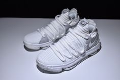 26f7665ea221 Nike Zoom KD10 Anniversary White Chrome Boots Kevin Durant Basketball Shoes Kevin  Durant Basketball Shoes