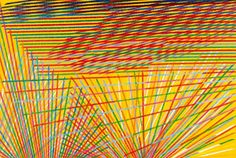 Piero Dorazio, long distance II, 1984. Cm 200x301