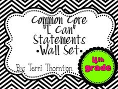 Common Core I Can