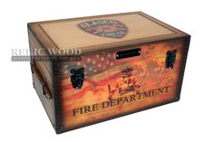 Put YOUR Fire Department patch artwork on this hand made in America wooden keepsake box.