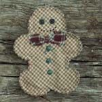 These primitive homespun Christmas ornaments are handmade from cotton homespun fabric and embellished with assorted buttons, patches, and jute. No two of them ever turn out exactly the same. Primitive Christmas Ornaments, Quilted Ornaments, Fabric Ornaments, Christmas Ornament Sets, Christmas Gingerbread, Handmade Ornaments, Diy Christmas Ornaments, Felt Christmas, Christmas Decorations To Make