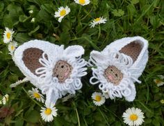 Baby Lamb Crochet Shoes Pattern
