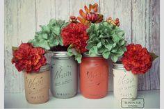 Ideias para a decoraração de um casamento de outono. #casamento #decoração #flores #outono #verde #vermelho