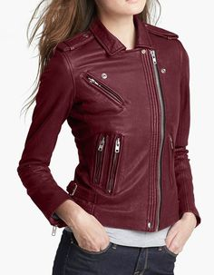 chaqueta de cuero mujer old vine 1