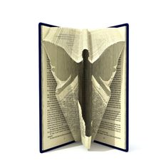 Book folding pattern  ANGEL  199 folds  Tutorial with