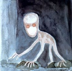 """horror-is-not-dead: """"The Dover Demon was first seen outside near a bar by three seventeen-year-old boys who were driving through the Massachusetts area when the car's headlights illuminated it. Humanoid Creatures, Weird Creatures, Mythical Creatures, Dover Demon, The Jersey Devil, Lake Monsters, Pseudo Science, Strange Beasts, Supernatural Beings"""