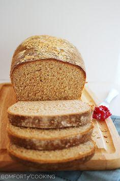 Whole Wheat Honey Oatmeal Bread – Soft and fluffy homemade whole wheat bread… Bread Machine Recipes, Bread Recipes, Baking Recipes, Fresh Bread, Sweet Bread, Oatmeal With Fruit, Homemade Buns, Wheat Bread Recipe, Bread Bun