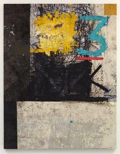Oscar Murillo - 3 2013, Oil paint, oil stick, dirt, 225 x 175 cm