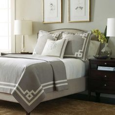 Legacy Home Beacon Hill Bedding - Best Sales and Prices Online! Home Decorating Company has Legacy Home Beacon Hill Bedding Linen Bedroom, Home Bedroom, Master Bedroom, Bedroom Decor, Gray Bedroom, Bedroom Yellow, Master Suite, Grey Bedding, Luxury Bedding