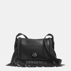 Dakotah Fringe Flap Crossbody in Whiplash Leather
