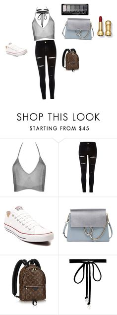 """Untitled #16"" by sophia-vigilante ❤ liked on Polyvore featuring Fannie Schiavoni, River Island, Converse, Chloé, Joomi Lim and Humble Chic"