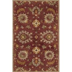 Andover Mills Darlington Wool Hand Tufted Russet Brown/Ivory Area Rug Rug Size: 2' x 3'