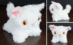 Look at this adorable white kitty made from my free Tiny Kitty pattern! Courtney Darling sewed this little sweetie and she modified the tail pattern to make it more pointy. I love it!