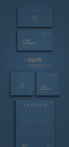 perfect, modern and minimalist branding and logo design. graphic design inspiration using geometric shapes and modern fonts. love the gold foil on blue background. Best Picture For Graphic Design phot Invoice Design, Design Brochure, Graphic Design Branding, Stationery Design, Invoice Template, Minimalist Graphic Design, Luxury Graphic Design, Geometric Graphic Design, Email Templates