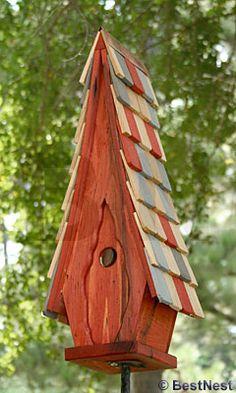 Heartwood High Cotton Bird House, Redwood at BestNest.com