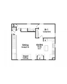Charming Garage Conversion Floor Plans | House Plan #RDS2304