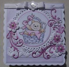 ink'n'rubba Eline's Baby digis stamp and papers from Cuddly Buddly, die cuts by Marianne Design