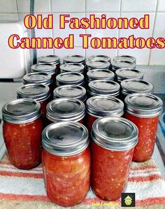Old Fashioned Canned Tomatoes. A great easy tutorial & recipe so you can capture the taste of Summer and enjoy during the Winter months! Canning Vegetables, Canning Tomatoes, Freezing Vegetables, Tomato Canning Recipes, Canning Tips, Home Canning, Canning Corn, Chutney, Canning Food Preservation