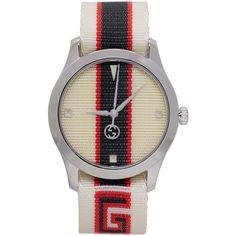 Gucci - White G-Timeless Logo Watch