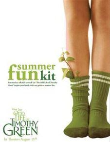 Free: Odd Life of Timothy Green Summer Fun Kit!
