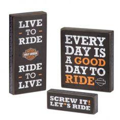 Harley-Davidson Pub Sign Trio