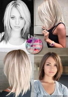 This year medium haircut is about soft natural lines and timeless sophisticated style. The medium hairstyle can be very diverse and one of the most versatile haircuts. These hairstyles suite very age - young and old. Whether you go for the bohemian messy Curly Hair Styles, Natural Hair Styles, 40 Year Old Hair Styles, Medium Hair Cuts, Haircut Medium, Medium Length Haircuts, Medium Hair Styles For Women, Medium Hair Styles With Layers, Shoulder Length Hair Cuts With Layers