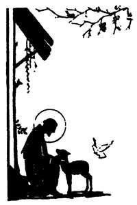 Silhouette of St Francis