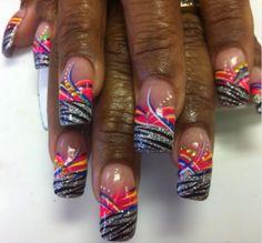 She couldn't decide line design or zebra stripes...so I did both!