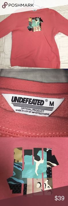 Undefeated Pink Logo Crewneck Never worn, no tags. Medium. Feel free to leave an offer or a comment! All offers are considered! Each product is wrapped, packed, and shipped on the same day, unless post office is closed. Undefeated Sweaters Crewneck