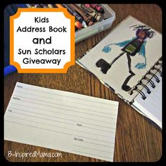 Kids Address Book and Sun Scholars Summer Learning Program #Giveaway at B-InspiredMama.com