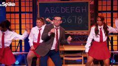 dancing abc education teacher lip sync battle teaching choreography lip sync jackson 5 morin brent morin from Lip Sync Battle, Brent Morin, Abc Education, Ron Clark, Jackson 5, Teacher, Dance, Boys, Presidents