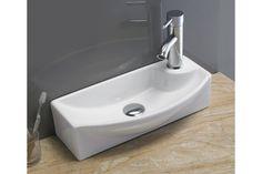Umývadlo keramické PEPI, zúžené, biele