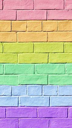 Super Cute Rainbow iPhone Wallpaper / Background / Lockscreen 🌈
