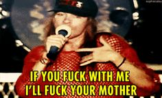 axl_rose guns_n_roses tokyo 1992 rocket_queen rapping love_the_part gif sophiecaley fuck