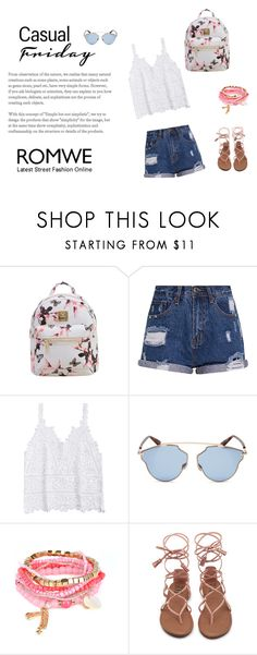 """""""romwe"""" by jasna66 ❤ liked on Polyvore featuring Christian Dior"""