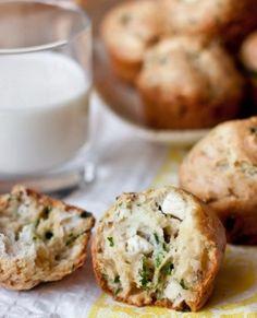 Snack muffins feta and herbs1